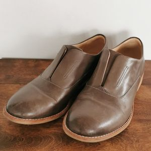 Clarks Brown Leather Loafers